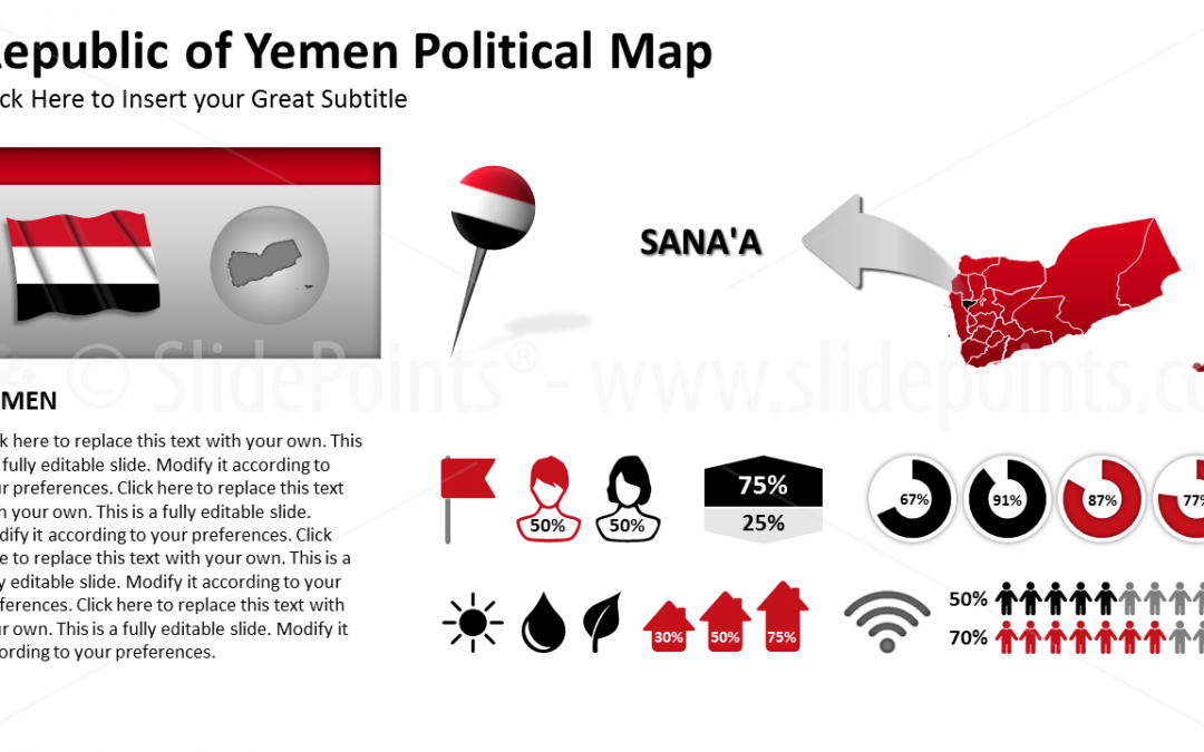 Yemen Political Map PowerPoint